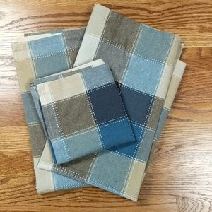 Plaid Check Blue Tan and Brown Valence and Tiers